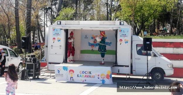 Çocuk karavanı Esenler sokaklarında