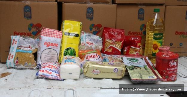 Eyüpsultan Belediyesi Ramazan için erzak kolisi dağıtmaya başladı