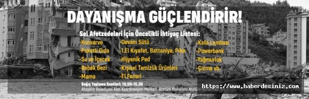 Ataşehir'de afetzedeler yardım