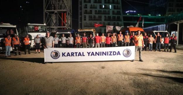 Kartal belediyesinden sel mağdurlarına yardım eli