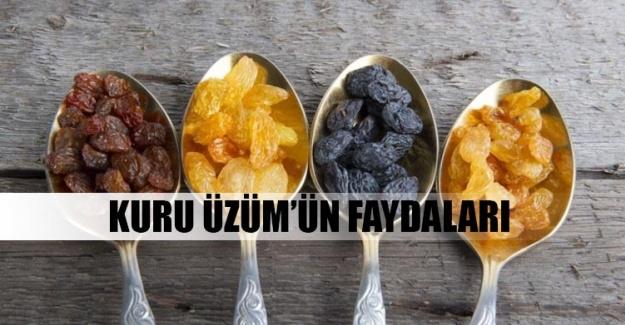 Kuru üzüm'ün faydaları nelerdir?