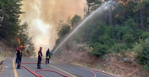 Maltepe'den Marmaris'e yangın seferberliği