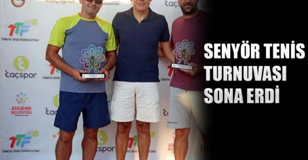 Senyör tenis turnuvası sona erdi