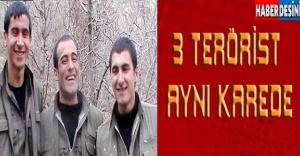 3 terörist de aynı karede