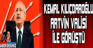 Kemal Kılıçdaroğlu, Artvin Valisi ile görüştü