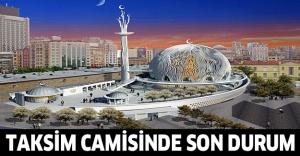 Taksim camisi yükselmeye devam ediyor