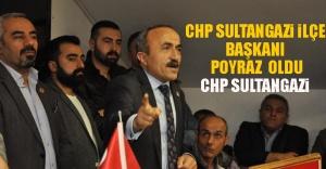 Chp Sultangazi İlçe Başkanı Poyraz  Oldu.