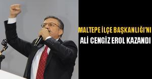 Maltepe İlçe Başkanlığı'nı Ali Cengiz Erol kazandı