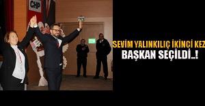 Sevim Yalınkılıç ikinci kez Başkan seçildi..!