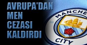 CAS, Manchester City'nin Avrupa'dan men cezasını kaldırdı