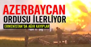 Azerbaycan ordusu ilerliyor! Ermenistan#039;da...