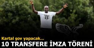 Beşiktaş'tan 10 transfere özel tören