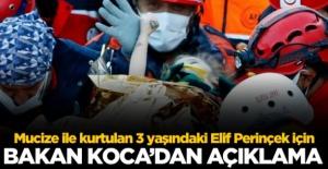 Bakan Koca'dan Elif Perinçek'in sağlık durumuyla ilgili açıklama
