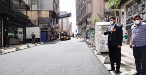 Sarıgöl Caddesi yenilendi