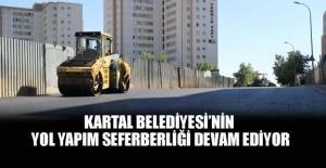 Kartal belediyesinin yol yapım seferberliği devam ediyor