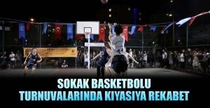 Sokak basketbolu turnuvalarında kıyasıya rekabet