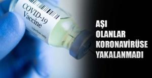 Aşı olanlar koronavirüse yakalanmadı